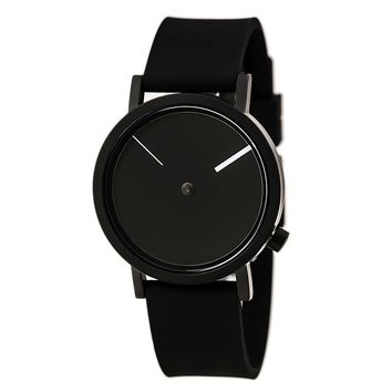 Projects 7295BS-40 Unisex Outside Black Dial Black Silicone Strap Watch