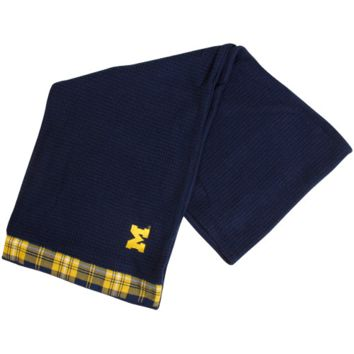 Michigan Wolverines Waffle Knit Infinity Scarf - Navy Blue