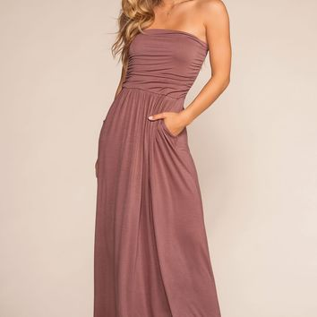 Sunrise Pocket Maxi Dress - Clay