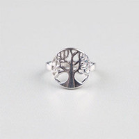 Full Tilt Tree Ring Silver  In Sizes