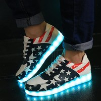 Casual Lightning LED Flat Shoes [6734581703]