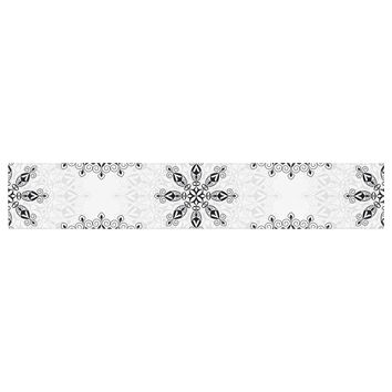"Julia Grifol ""Black Mandala"" White Black Table Runner"