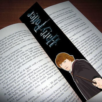 HARRY POTTER - Ron Weasley bookmark - cartoon-style - High quality print