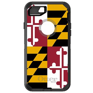DistinctInk™ OtterBox Defender Series Case for Apple iPhone or Samsung Galaxy - Maryland State Flag