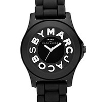 Marc by Marc Jacobs Watch, Women's Mode Black Silicone Strap MBM4006 - All Watches - Jewelry & Watches - Macy's