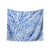 "Strawberringo ""Branches"" Blue White Wall Tapestry"