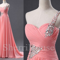 Sequins Ruffled Strapless Empired Long Empired Bridesmaid Celebrity dress ,Court Train Chiffon Evening Party Prom Dress Homecoming Dress
