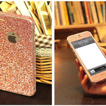 iPhone 4/4s/5 skin. Full body stick-on skin for iPhone 4/4s. iPhone 5 skin. iPhone 5 stick-on cover. iPhone 4/4s glitter skin for iPhone 5