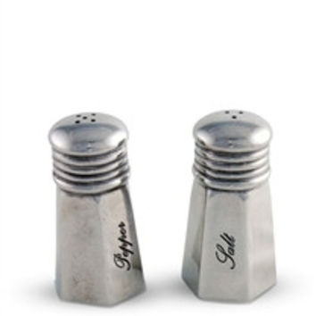 Pewter Vintage Salt and Pepper Shaker Set
