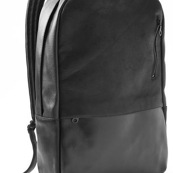 Gap + GQ En Noir Canvas Leather Backpack Size One Size - True black