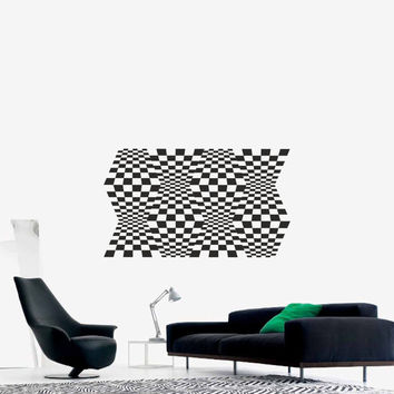 Optical Illusion - Space Warps vinyl decal science geometric art removable decor