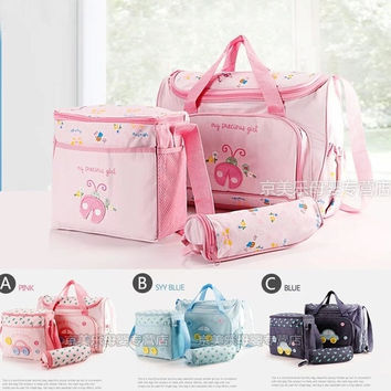 Fashion 2014 Succinct Diaper Bags Designer Baby Mothers' Products Nappy Bags 3PCS a set Maternity bag baby Multi-color = 1946939716
