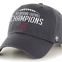 Alabama Crimson Tide 47 Brand 16 Time National Football Champions Gray Hat Cap