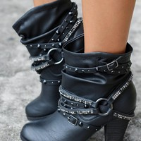 Sierra Black Booties