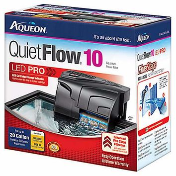 Aqueon QuietFlow 10 Aquarium Power Filter | Petco