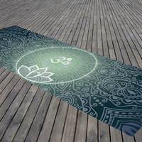 Yoga Mat Mandala Ohm Meditation Mat Bohemian Design Exercise Mat