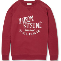 Maison Kitsuné - Printed Loopback Cotton-Jersey Sweatshirt | MR PORTER