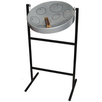 Jumbie Jam Steel Drum Silver with Sticks, Stand, Book and Bag