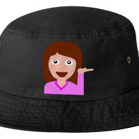 emoji girl  bucket hat