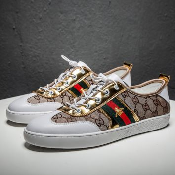 GUCCI Women Men Casual Shoes Fashionable