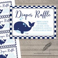 Nautical Baby Shower Diaper Raffle Tickets