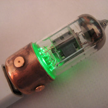 8GB GREEN Pentode usb flash drive. Industrial/Steampunk
