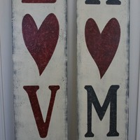 Love Home Double Sided Wood Sign