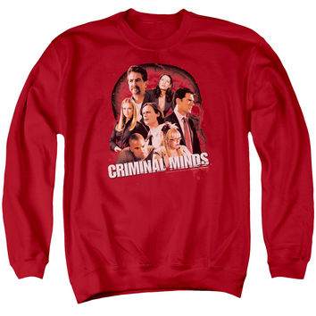 CRIMINAL MINDS/BRAIN TRUST - ADULT CREWNECK SWEATSHIRT - RED -