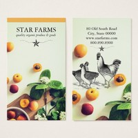 Chicken And Produce Farm Business Cards
