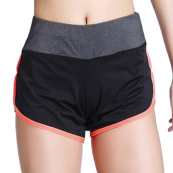 Women Workout Athletic Curves Hot Yoga Running Track Jogging Shorts
