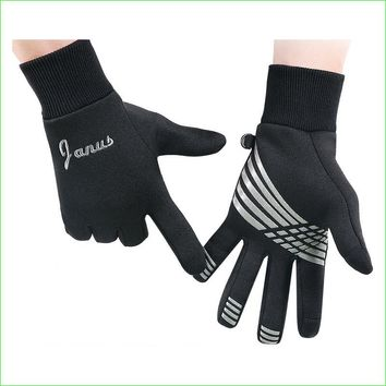 2017 NEW Windproof Warm Running Gloves Unisex Full Finger Gloves Touch Screen  For Outdoor Riding Soccer Training