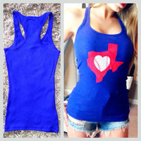 Texas Rangers baseball racer back tank | Royce Clothing