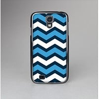 The Blue Wide Chevron Pattern Skin-Sert Case for the Samsung Galaxy S4