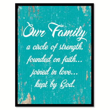 Our Family Kept By God Quote Saying Home Decor Wall Art Gift Ideas 111841