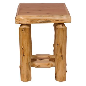 Classic Traditional Cedar Open Nightstand