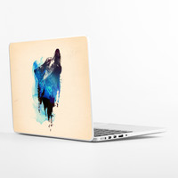Alone As a Wolf Laptop Skin