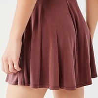 UO Veruca High-Rise Cupro Mini Skirt   Urban Outfitters