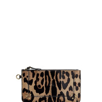 Leopard Print Ziptop Coin Purse by Jerome Dreyfuss