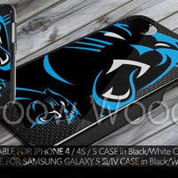 Carolina Panthers Nfl big panther Design for iPhone 4/4s/5/5c/5s, Samsung Galaxy S3, Samsung Galaxy S4 Case