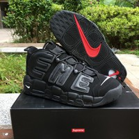 Supreme x Nike Air More Uptempo Big R Scottie Pippen Black Basketball Shoes