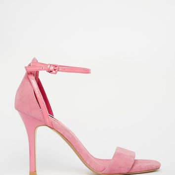 Dune Madeira Pink Barely There Heeled Sandals