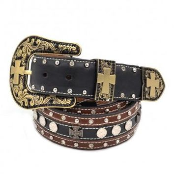 206 Cross Buckle Collection Belt