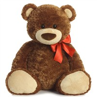 Large Smiles the Teddy Bear with Red Bow by Aurora