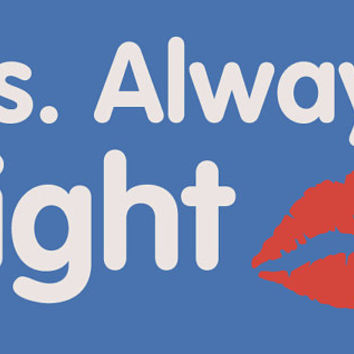 Ms. Always Right lips T-Shirt for woman girl Teenager. Shirt For women College Student Relationship Couples Hands Canada shipping