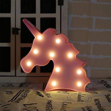 Unicorn Head Shape Marquee Letter Lights Unicorn Party DIY Event Party Favors Gifts For Christmas Wedding Decoration