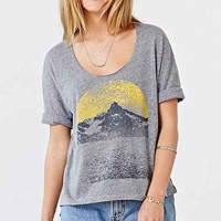 Project Social T Sunset Mountain Tee- Grey
