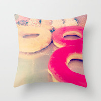 BREAKFAST Throw Pillow by danielle marie | Society6