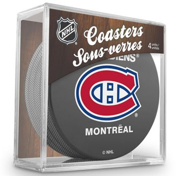 NHL 4 Pack Puck Coaster Set - Montreal Canadiens