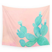 Society6 Pastel Cactus Wall Tapestry