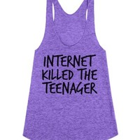 The Internet Killed The Teenager-Unisex Tri Orchid Tank